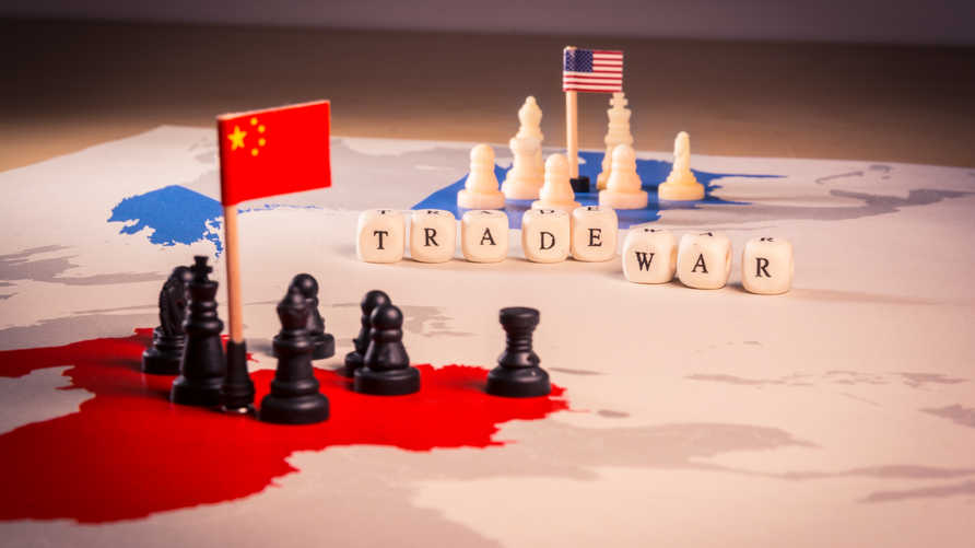 الحرب التجارية الأميركية الصينية. تعبيرية