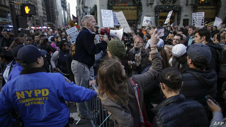 جانب من مظاهرة ضد ترامب في نيويورك