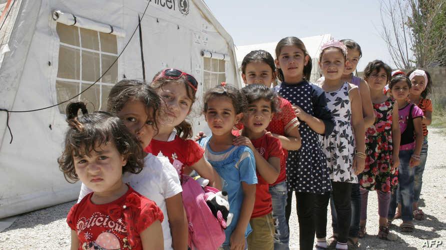 أطفال سوريون لاجئون في لبنان