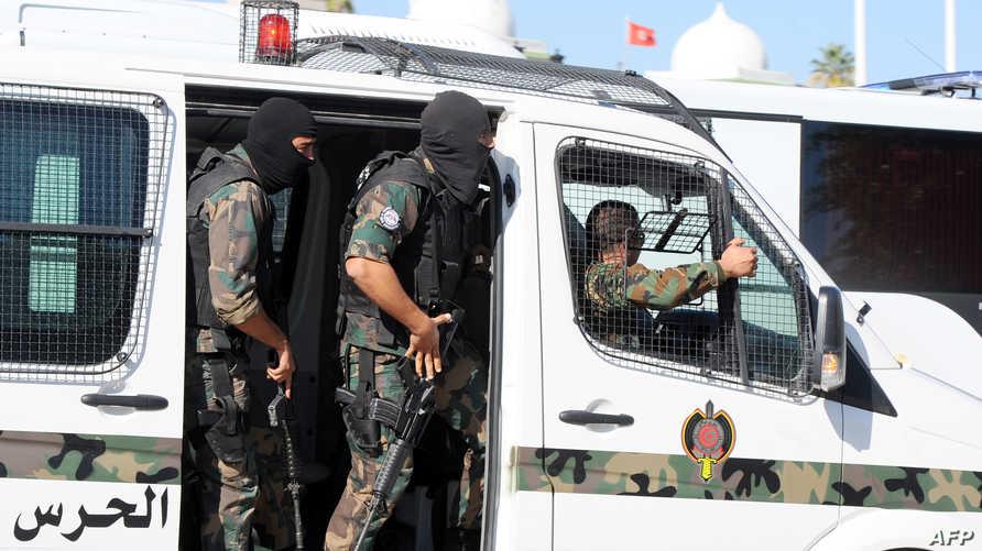 عناصر في الشرطة التونسية الخاصة - أرشيف