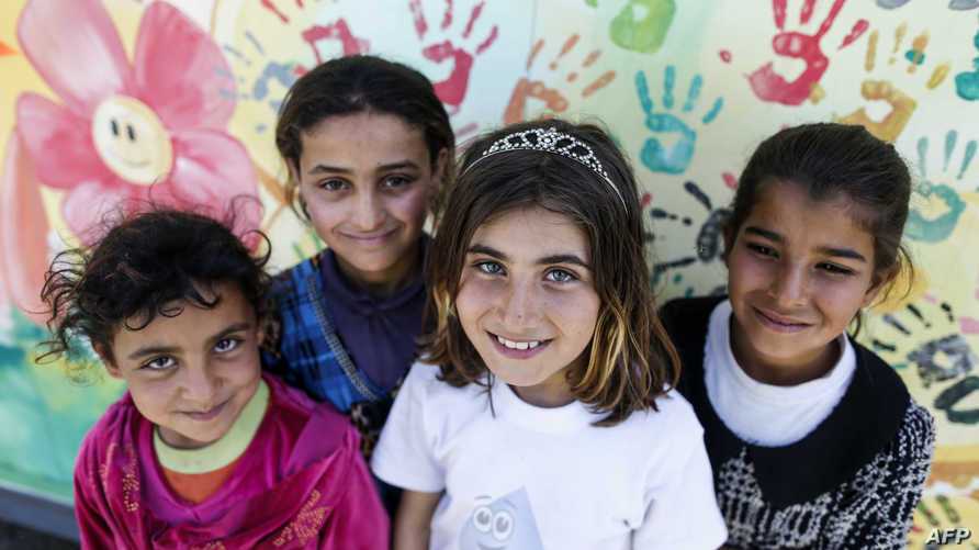 أطفال نازحون من الموصل