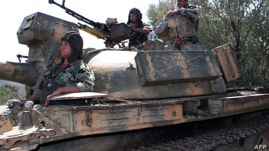 مقاتلون في الجيش السوري. أرشيف