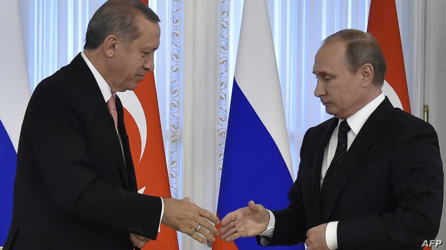 بوتين وأردوغان في سان بطرسبورغ الثلاثاء