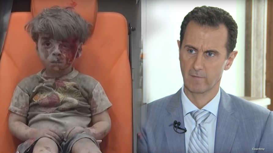 الرئيس السوري بشار الأسد والطفل عمران