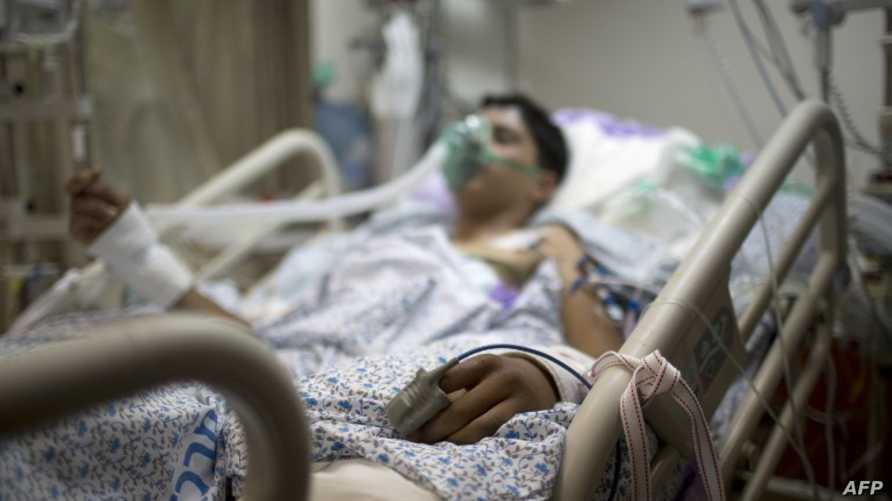 جريح سوري يعالج في أحد المستشفيات الإسرائيلية - أرشيف