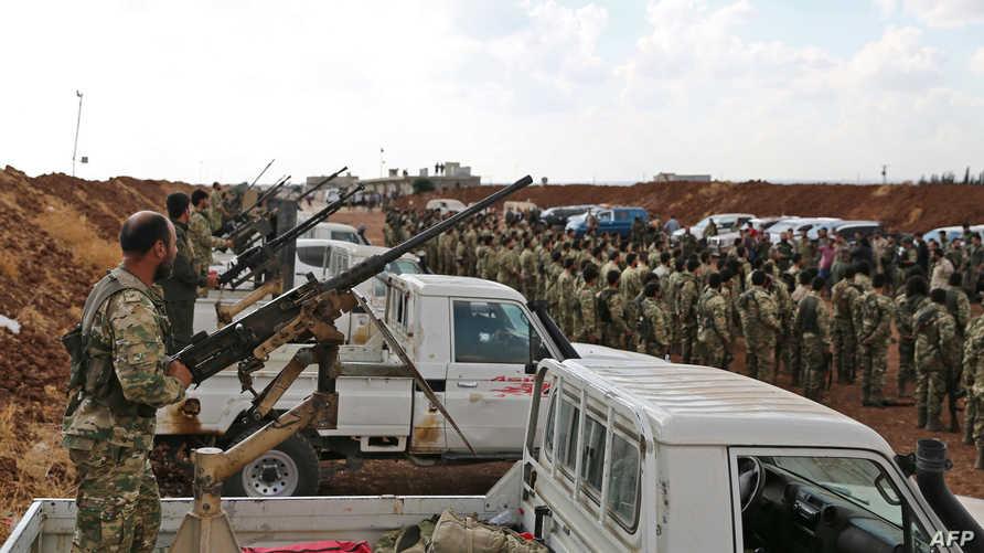 فصائل سورية مسلحة مدعومة من تركيا تستعد للمشاركة في عملية تنوي أنقرة تنفيذها في شمال سوريا