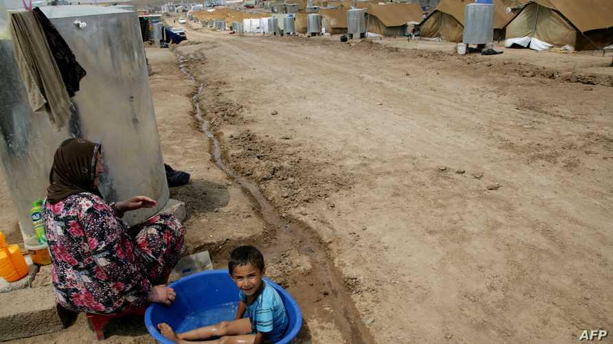 أحد مخيمات اللاجئين في العراق