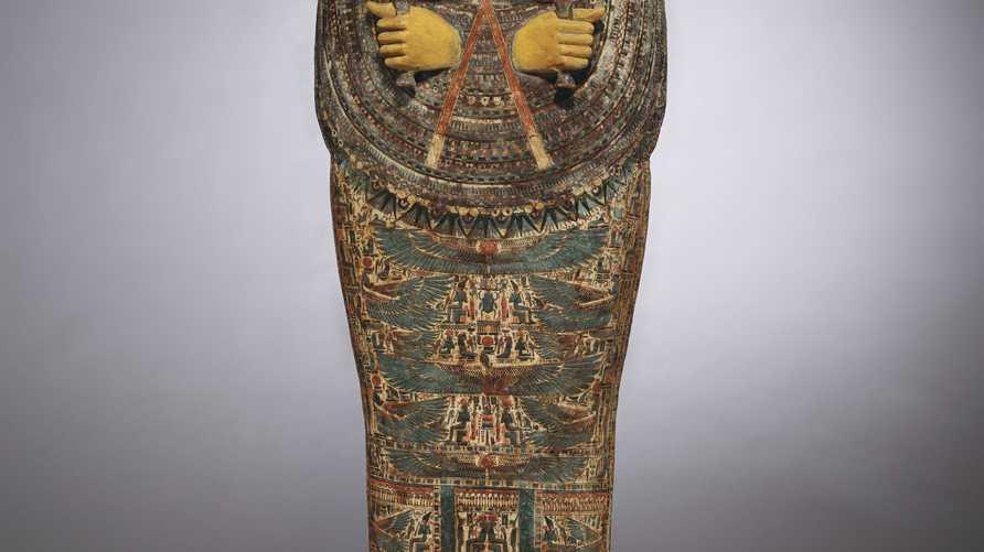 تابوت مصري قديم من المقرر عرضه في مزاد بمدينة نيويورك - 28 أكتوبر 2019