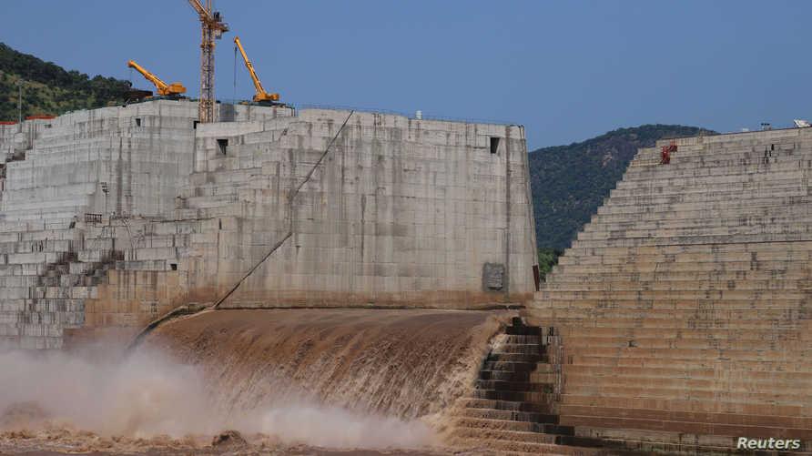 سد النهضة الإثيوبي قيد الإنشاء