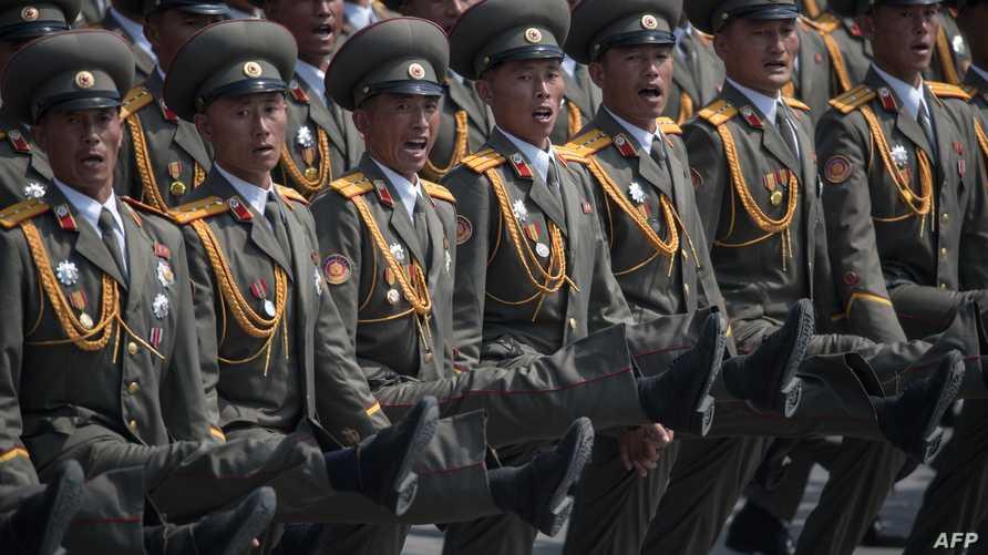 من العرض العسكري لكوريا الشمالية، الذي أقيم يوم 15 نيسان/أبريل الماضي بمناسبة الذكرى 105 لمولد مؤسس النظام