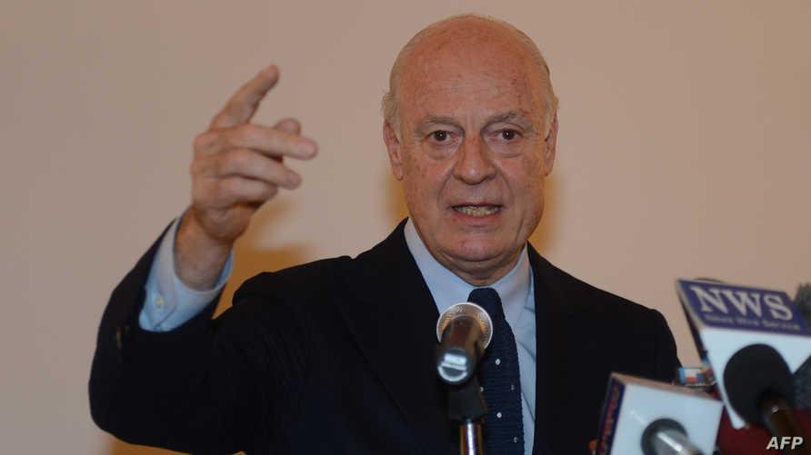 ستافان دي ميستورا المبعوث الخاص للأمم المتحدة إلى سورية