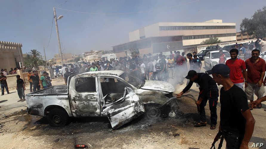 أضرار خلفها انفجار في ليبيا-أرشيف