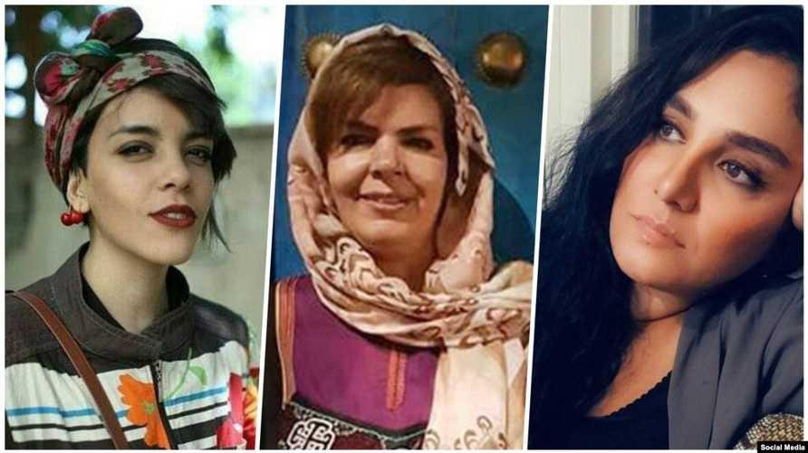 موجغان كيشافارز (يمين)، منيرة عربشاهي (وسط)، ياسمين أرياني (يسار)