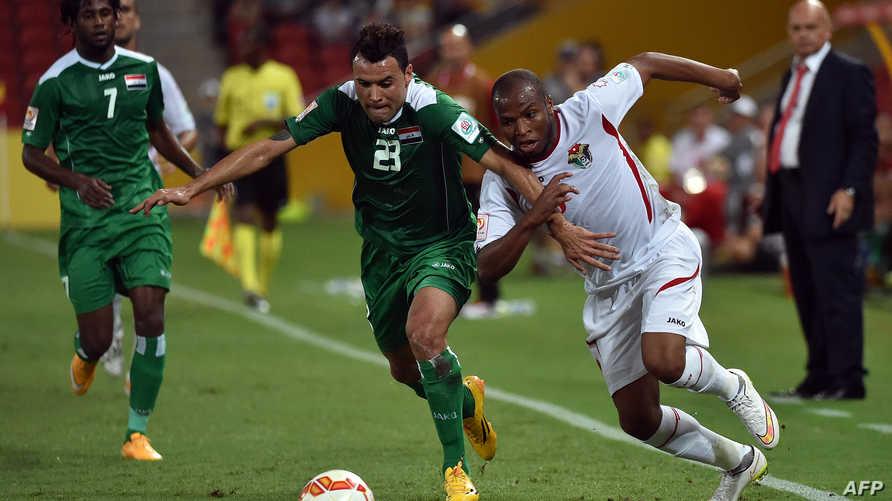 مباراة سابقة بين العراق والأردن