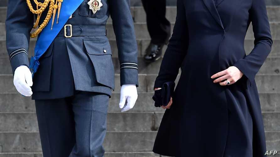 الأميرة كيت رفقة زوجها الأمير وليام