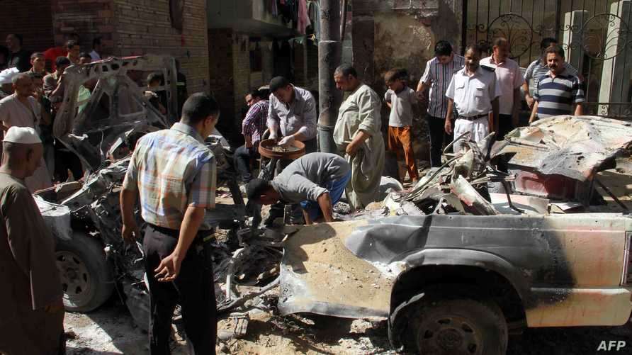 أضرار خلفها هجوم سابق في مصر