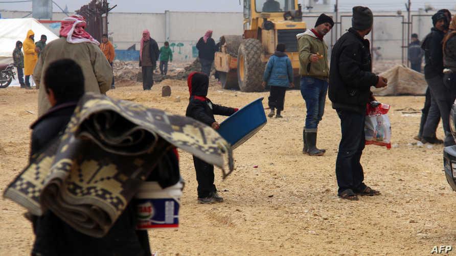 نازحون فروا من حلب