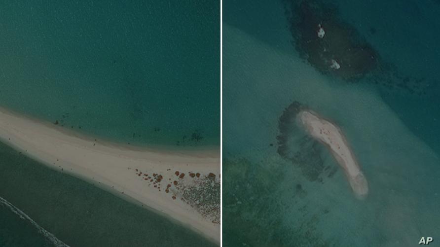 اختفاء إحدى الجزر بسبب التغيرات المناخية