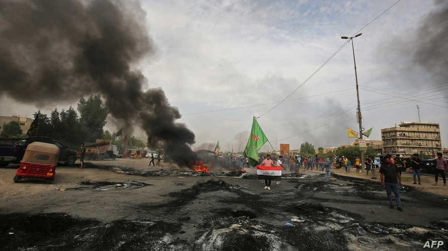 جانب من تظاهرات العراق-الثلاثاء