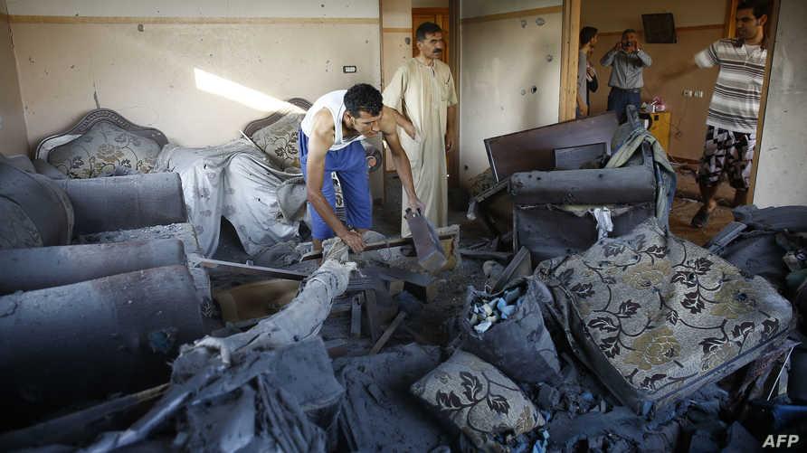 مخلفات القصف الإسرائيلي على غزة