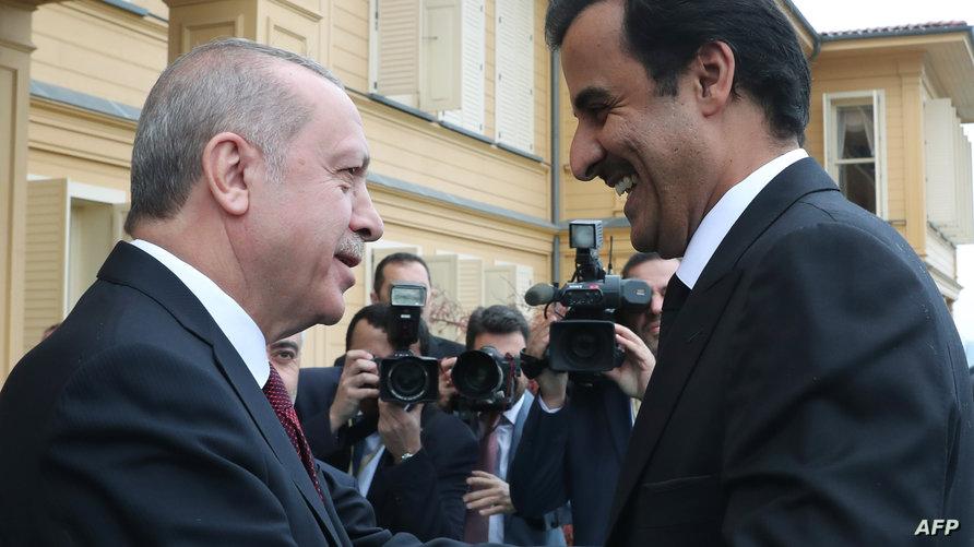 من أخر لقاء جمع تميم وإردوغان في أسطنبول نوفمبر 2018