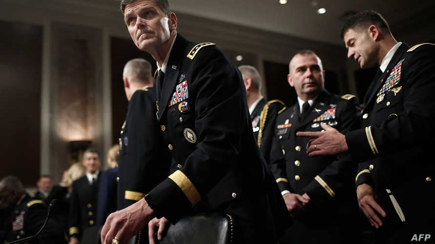 فوتل في جلسة استماع أمام لجنة القوات المسلحة في مجلس الشيوخ الأميركي.