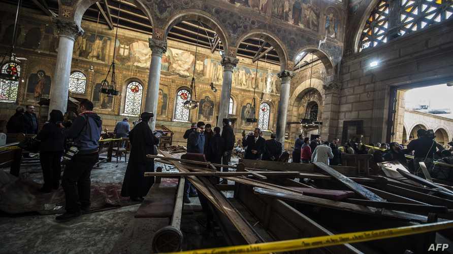 الكنيسة بعد التفجير