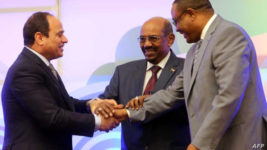 اجتماع سابق لرؤساء مصر والسودان وإثيوبيا حول سد النهضة