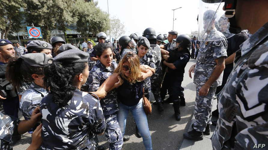 جانب من الاشتباكات وسط بيروت