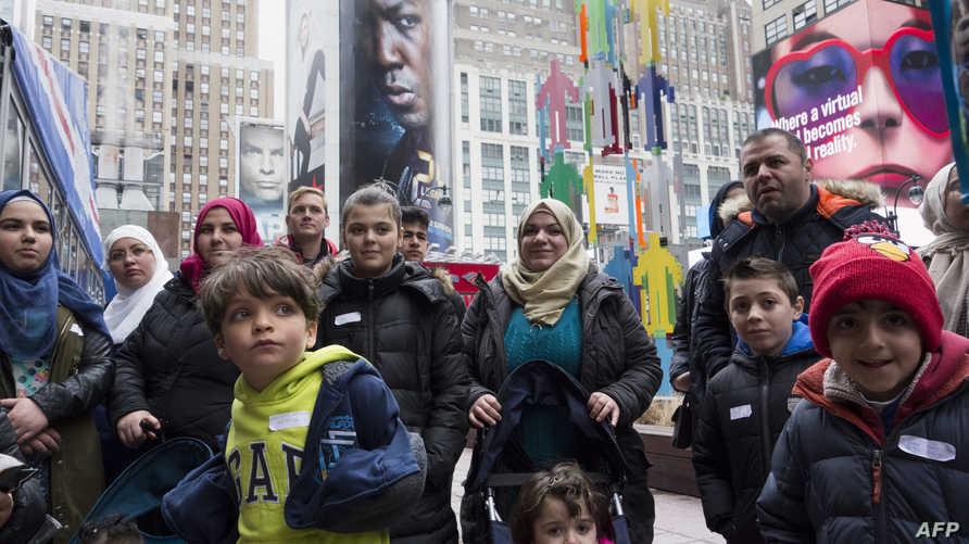 لاجئون سوريون وعراقيون في حديقة ماديسون سكوير نيويورك- أرشيف
