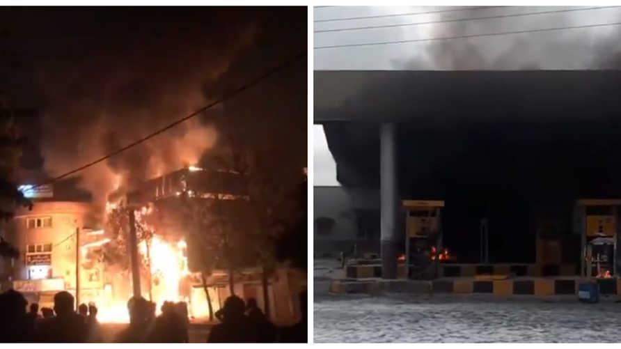 حرق البنوك ومحطات الوقود والمتاجر مستمر في إيران لليوم الثالث على التوالي