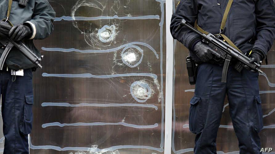 آثار إطلاق النار على المركز الثقافي في كوبنهاغن
