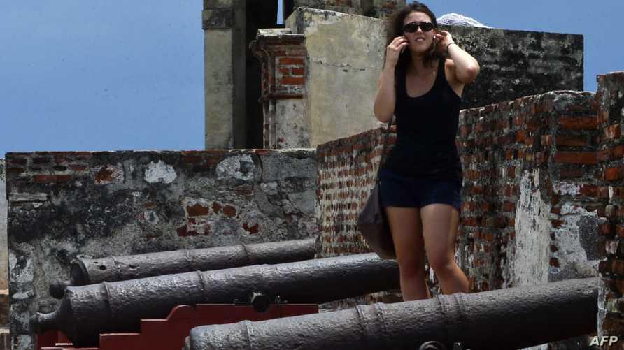 سائحة في كولومبيا