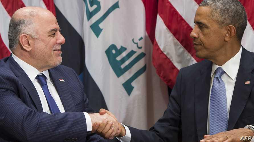 رئيس الوزراء العراقي حيدر العبادي برفقة الرئيس باراك أوباما، أرشيف