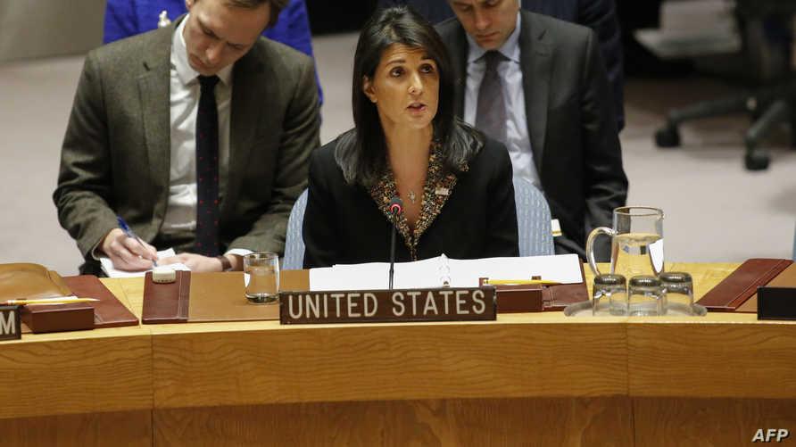 السفيرة الأميركية في الأمم المتحدة نيكي هايلي
