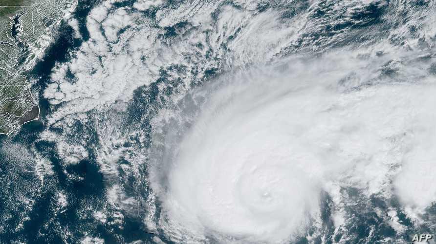 صورة أرشفية لعاصفة استوائية