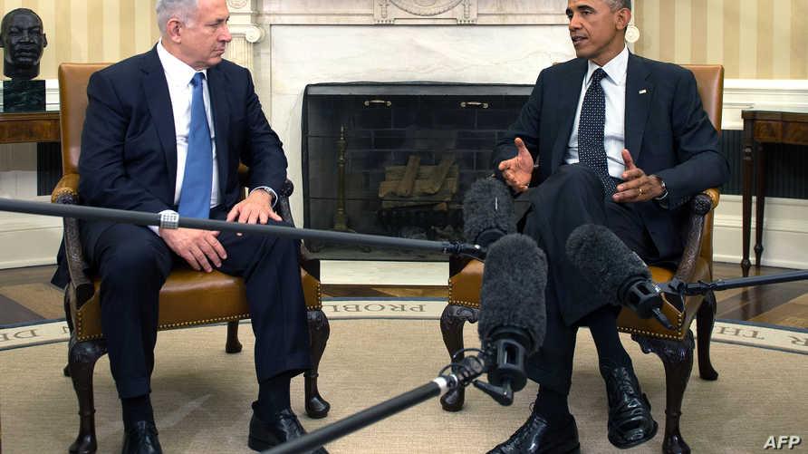 الرئيس باراك أوباما ورئيس الوزراء الإسرائيلي بنيامين نتانياهو