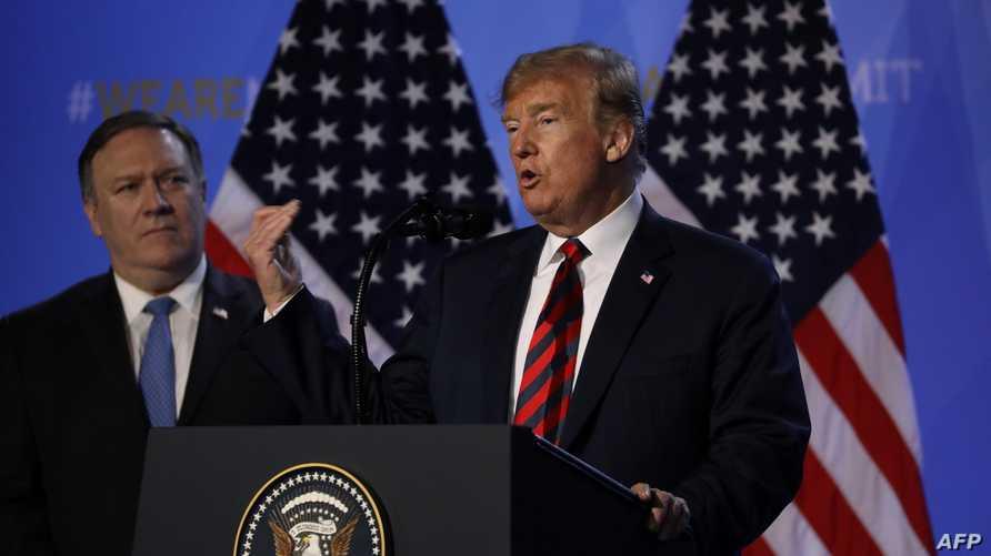 الرئيس دونالد ترامب ووزير الخارجية مايك بومبيو