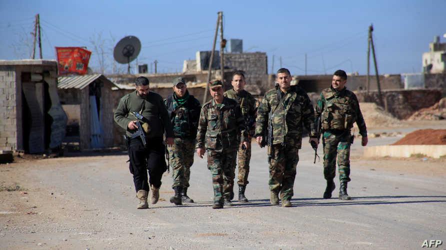 قوات نظامية سورية في حلب