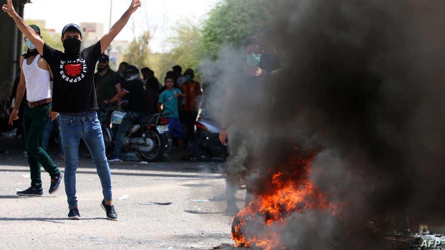 صورة من الاحتجاجات التي شهدها العراق مؤخرا- أرشيف