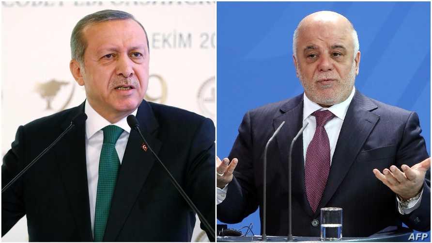 الرئيس التركي ورئيس الوزراء العراقي