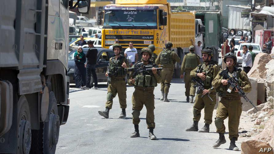 جنود إسرائيليون في الضفة الغربية- أرشيف