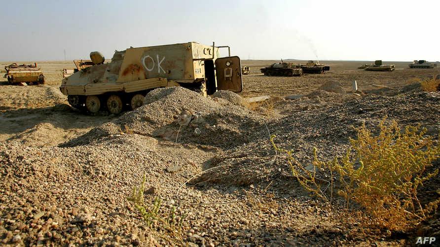 من مخلفات الجيش العراقي السابق في البصرة