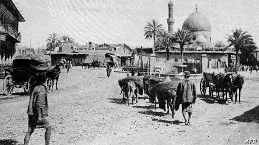 شارع الرشيد بالعاصمة بغداد في صورة تعود لعام 1925