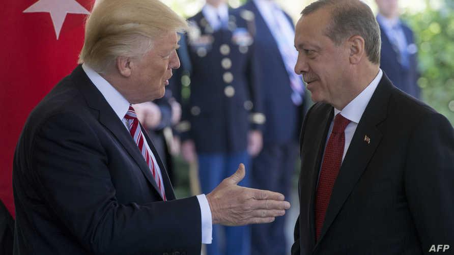 الرئيس دونالد ترامب ونظيره التركي رجب طيب أردوغان
