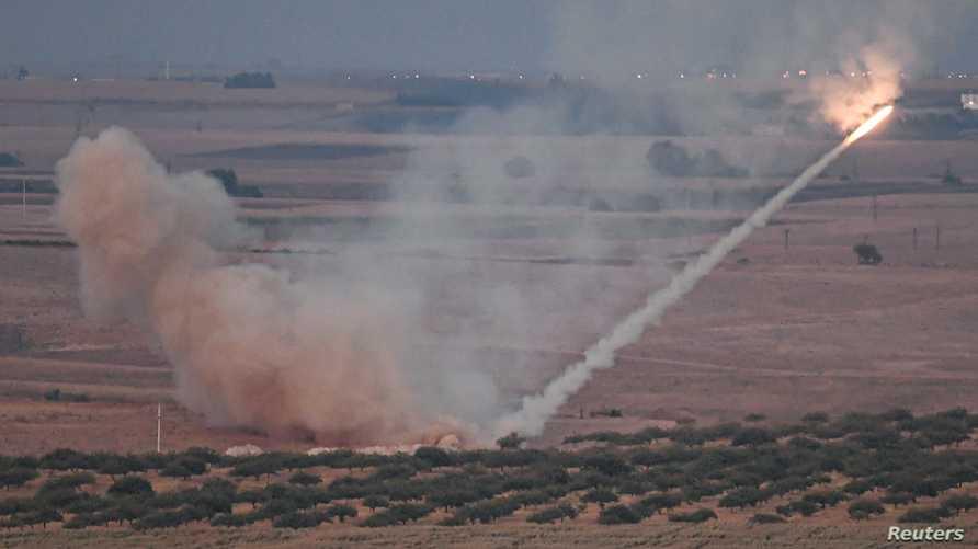 قصف تركي باتجاه مدينة راس العين السورية