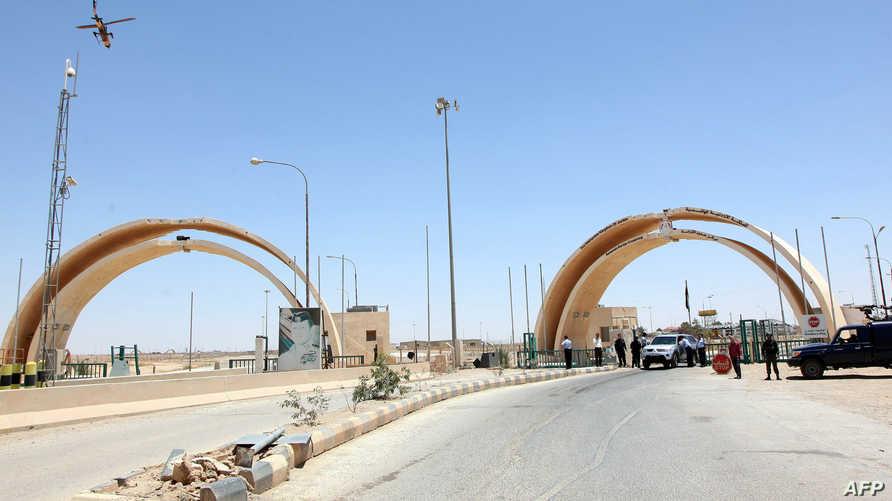 جانب من منفذ الكرامة الحدودي بيع العراق والأردن