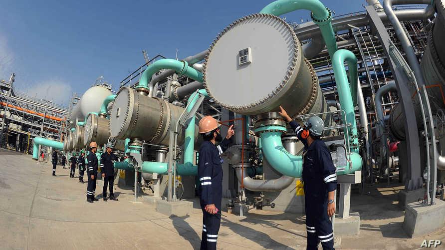 محطة لتكرير النفط في الكويت