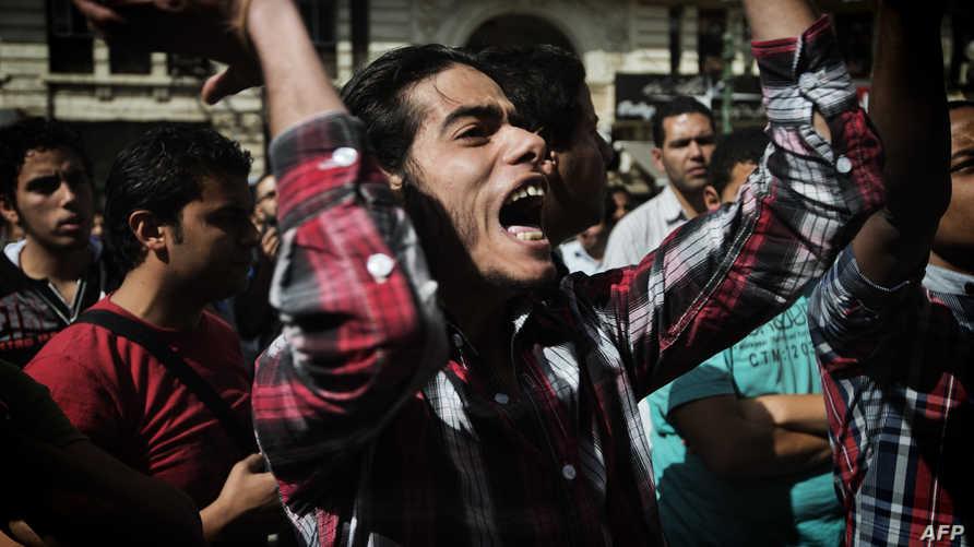 مظاهرة مناهضة للحكومة خلال الثورة المصرية