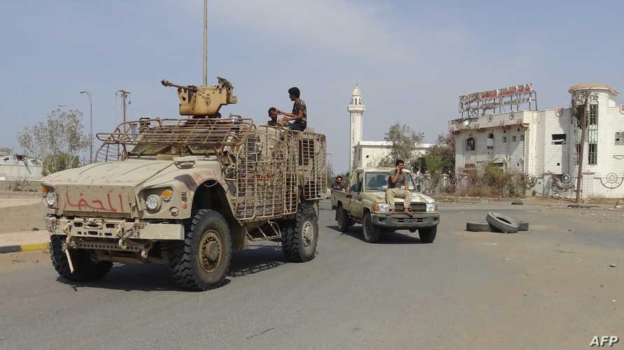 عناصر في القوات التابعة للحكومة اليمنية في الحديدة